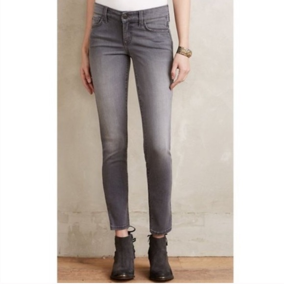 Level 99   Gray Lily Skinny Straight Jeans